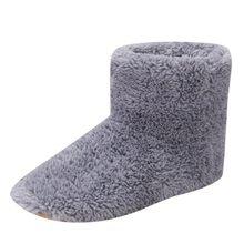 Laarzen Vrouwen USB Verwarmde Warme Voeten Dikke Flip Flop Warme Voet Warmer Schoen Winter Warming Pad Verwarming Inlegzolen Warme Comfortabele(China)