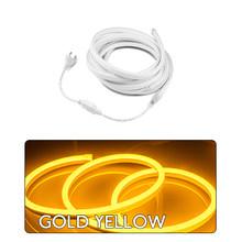 Tira de cuerda de neón LED Flexible impermeable 220V SMD2835 120 LEDs/M LED tira de cuerda de iluminación de decoración cinta de emisión de luz(China)