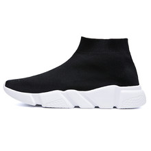 Running Shoes For Men Women Breathable Sneakers Women Men Knit Upper Sport Shoes Sock Boots Woman Chunky Shoes High Top(China)