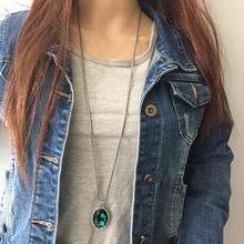 Anslow 2020 nouveau Design mode bijoux européen charme 90cm Long pull collier pendentif pour femmes accessoires cadeau LOW0090AN(China)