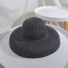 2019 גברים קש כנף כובע גדול קיץ גבירותיי נוער אישה כובע כובעי לנשים צל שמש כובע חוף כובעים(China)