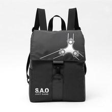 أنيمي السيف الفن على الانترنت على ظهره ساو للماء النايلون المدرسية المراهقين طالب السفر محمول أكياس حقيبة جمع الحقيبة(China)