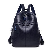 Casual feminino bonito mochilas de alta qualidade macio couro do plutônio bagpack grande capacidade mochila de viagem para senhoras(China)