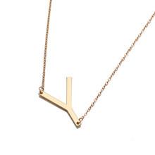 Индивидуальное ожерелье с буквенными подвесками большой чокер золотой кулон ожерелья с инициалами для женщин современные аксессуары воро...(China)