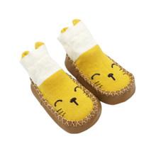 Носки для малышей; обувь для мальчиков и девочек с резиновой подошвой; носки для новорожденных; сезон осень-зима; детские носки-тапочки; неск...(China)