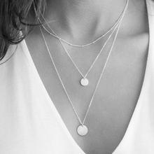 EManco 316L acier inoxydable collier femmes personnalisé initiale nom personnalisé plaque signalétique pendentif collier en couches collier ras du cou(China)