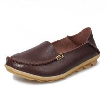 Vrouwen Schoenen Flats Echt Leer Mode Casual Loafers Slip Op Flats Zachte Mocassins Schoenen Vrouwen Ademend Verpleegkundige Schoenen Oxford(China)