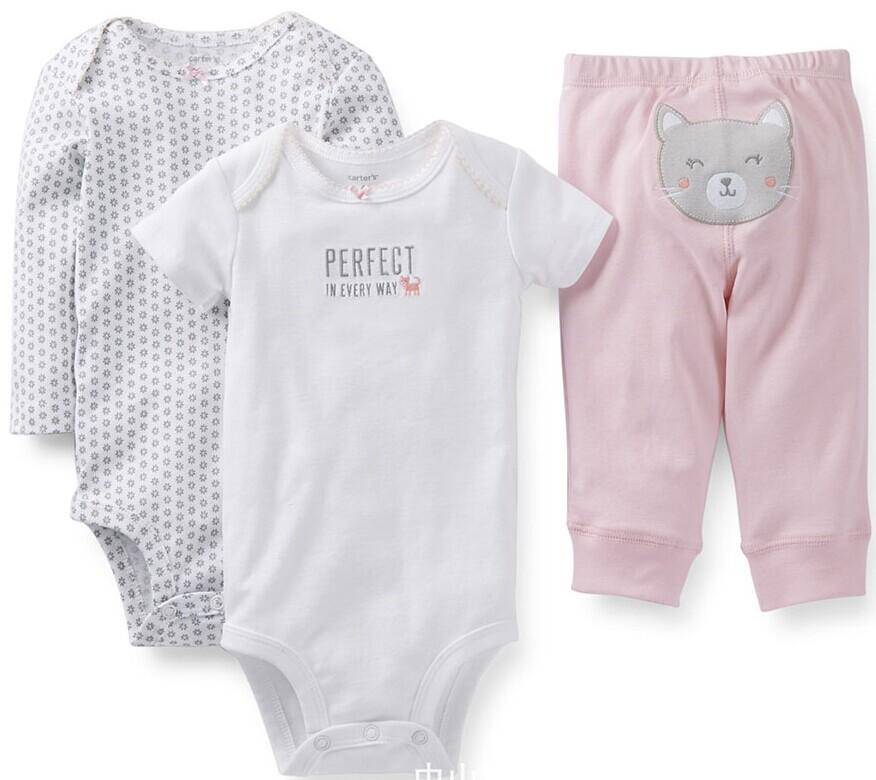 Оригинальный Картеры baby мальчики девочек Одежда наборы, Картеры детские модели Набор 3шт, есть подарки в наличии