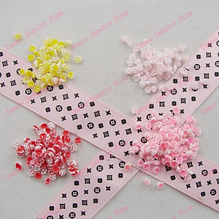 Cute Clay Designs 200pcs Cute Clay Charms Pink