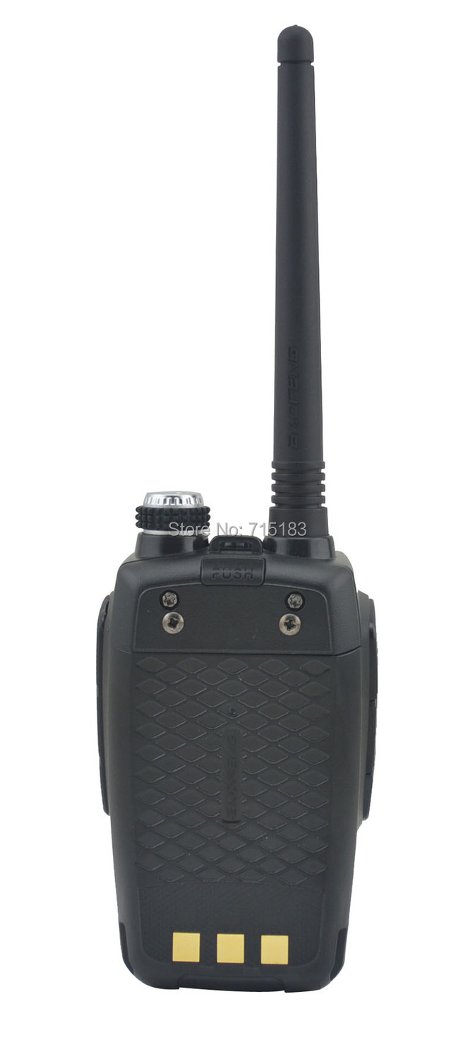 Color White BF-530I 136-174MHz & 400-520MHz Dual Band 5W/1W 128CH FM 65-108MHz with Free Earphone Portable Two-way Radio