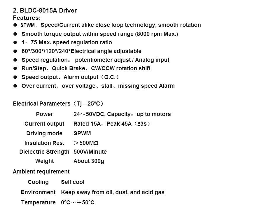 Купить 2 Оси Высокой Qualiy ЧПУ Wantai Нема 17 Бесщеточный Двигатель ПОСТОЯННОГО ТОКА 4000 ОБ./МИН., 24VDC, 26 Вт, 3phs 42BLF01 & Driver BLDC-8015A, 80VDC, 5000 ОБ./МИН., CE