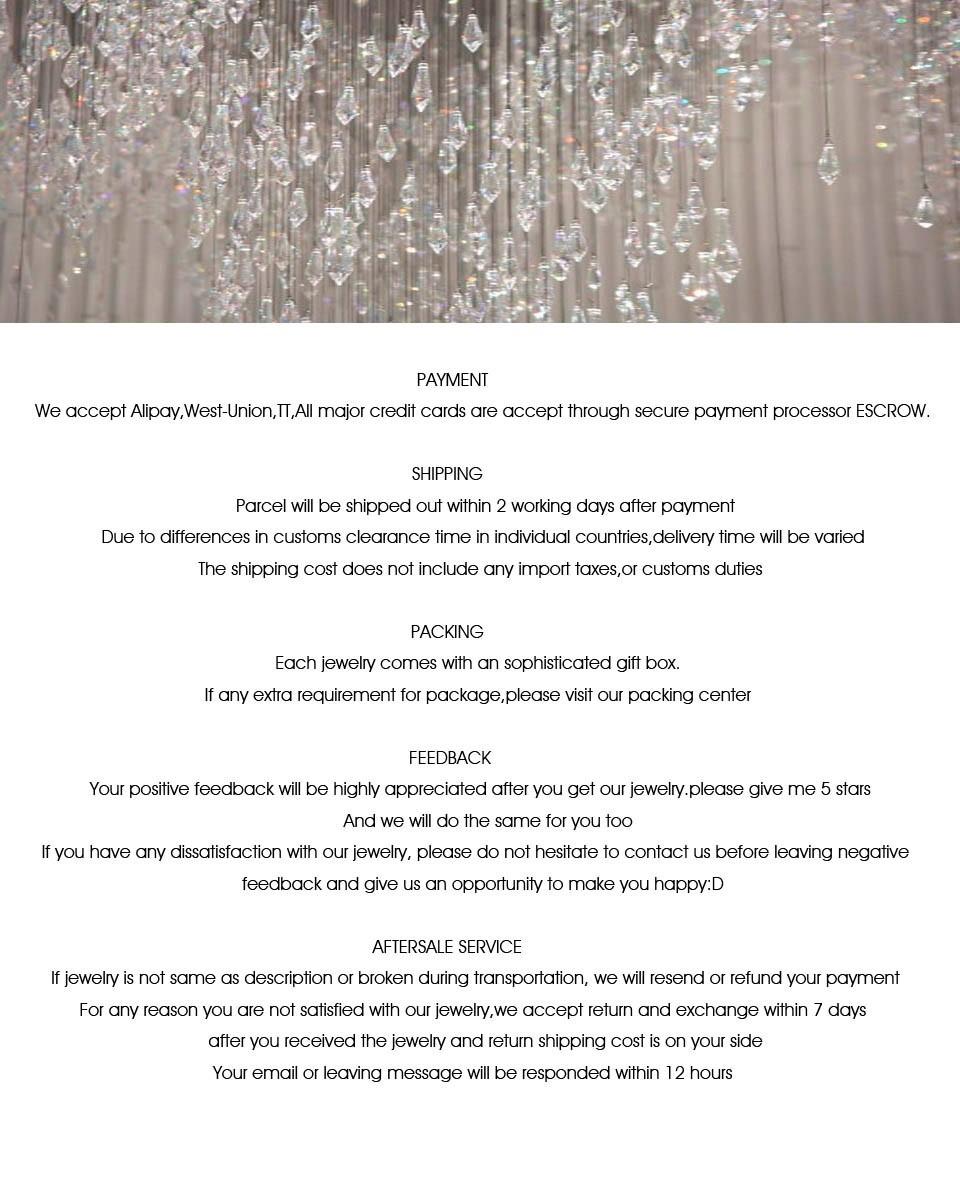 шарм Святого валентина подарок сапфир дубай ювелирные изделия устанавливает керамические нити тонкие ожерелья уги кулоны кулон колье макс сережки серьги стразы горный хрусталь зубец настройки подвески бижутерия подарок