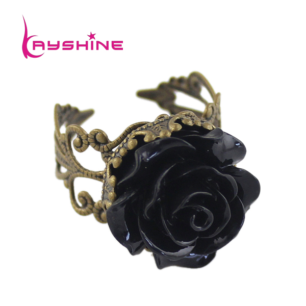Wholesale Vintage Jewelry Rings For Women Fashion Colorful Rose