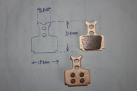 велосипедов диск спеченные тормозные колодки для формулы как rx, r1, t1, один, один Франк, мега, Ро, c1, rx для sh850s