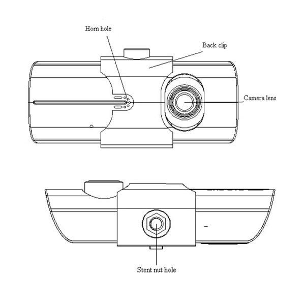 Dual Camera Car DVR with GPS and 3D G-Sensor 2.7