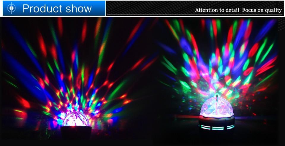 Светодиодная лампа OEM E27 6w RGB Auto DJ
