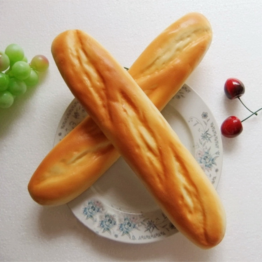 Moving Box 2 PCS PU Material Fake Cake Artificial French Long Bread Decoration Model Kitchen Toys Prop(China (Mainland))