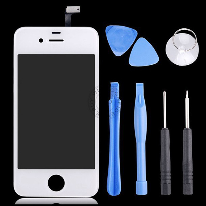 White Screen Front Glass Screen For iPhone 4s Replacement for Touch Digitizer Screen & Opening Tools(China (Mainland))