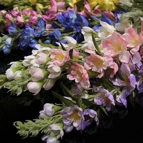 Free Shipping Delphinium Hyacinth Decoration Artificial Silk Flowers Wedding Flower Home Decoration Hotel Coffee Shop Wholesale(China (Mainland))