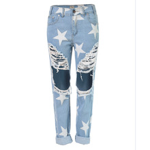 High quality2016 brand women's  women jeans ripped jeans for women american apparel high waist jean