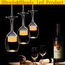 DHL Freeshipping New Modern Acrylic Wine Cup Bar Suspension Lighting Pendant Lamp Restaurant Light LED Chandelier lights(China (Mainland))