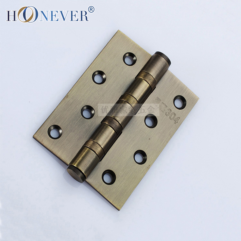 2pcs Stainless Steel Hinge Furniture Door Hinge Cabinet Wood Box Cupboard Cold Steel Hinge Bronze Four Inches(China (Mainland))
