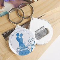 Free Shipping 100pcs Personalized Wedding Favors And Gifts Bottle Opener & Keychain Wedding Gifts For Guests Wedding Souvenirs