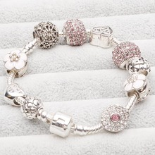 New Arrival Monther's Day Gift Jewelry Wholesale European Charm Beads Fits European pandora Bracelets for Women(China (Mainland))
