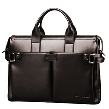 successful men necessary! genuine leather bag for man handbag with long belt messenger bag men leather brown big briefcases(China (Mainland))