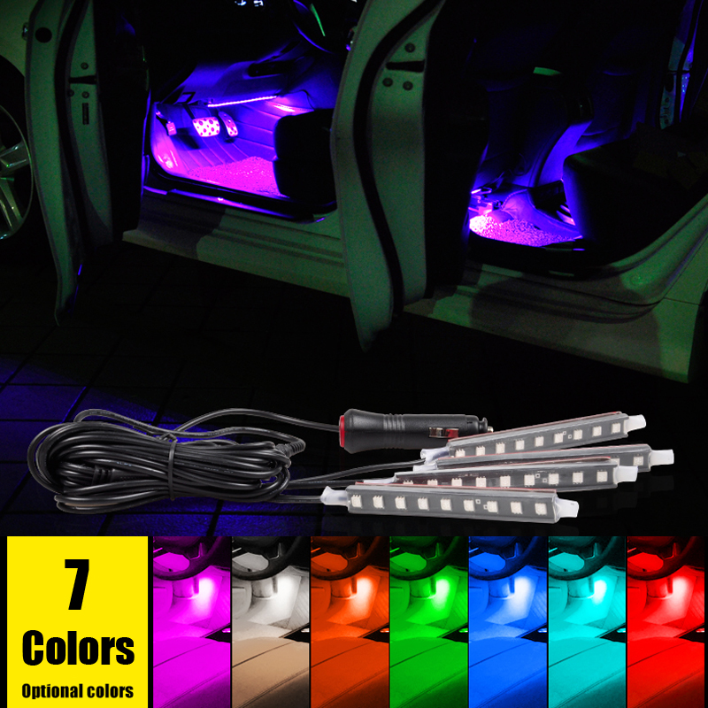 free shipping super bright car led interior decoration lighting 4 9 leds 5050 chip 4 in 1 12v. Black Bedroom Furniture Sets. Home Design Ideas