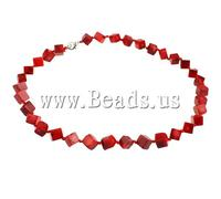 Free shipping!!!Coral Necklace,christmas, Natural Coral, red, 7mm, Length:18 Inch, Sold Per 18 Inch