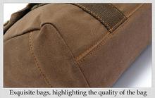 EcoCity Men s Vintage Canvas Leather School Military Shoulder Bag fashion leisure messenger bag men Men