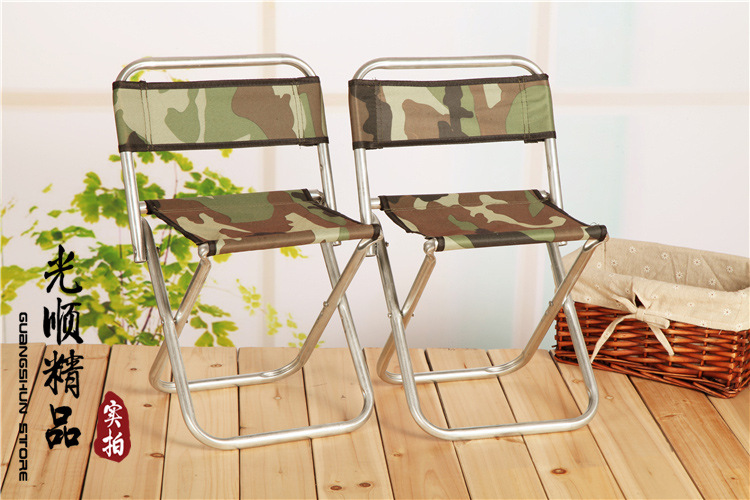 Large Metal Backrest Folding Stool Portable Outdoor Fishing Line Railway Station Folding Camping fishing home daily necessary(China (Mainland))