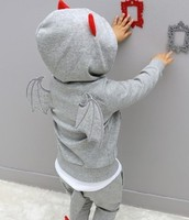 spring 2016 Baby Kids Girl boys Clothes sport wear Sets Childrens clothing tracksuits black gray top+Pants set Outfits 2pcs 2-9Y