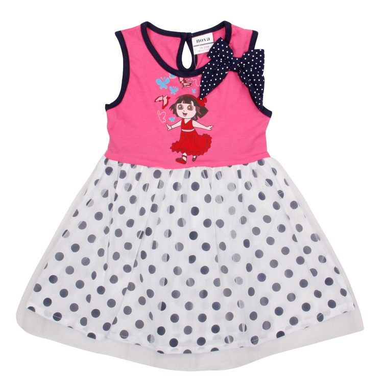 hot! 2-6T girl dress up for girl,vestido infantis de menina,All for children clothing accessories,fashion ROSE RED kid wear(China (Mainland))