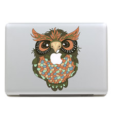 Removable DIY Avery fashion DIY big colorful owl tablet sticker and laptop computer sticker for macbook Air 11,260x270mm