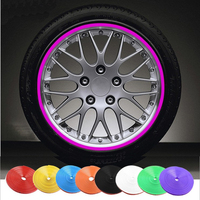 8 Meter/Roll Universal Car Mini Tire Rims Wheel Protection Ring Rubbing Strip Scratch-Proof Sticker 7 colors