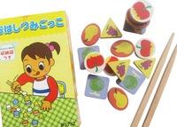 Export Japan children chopsticks fruit Family Games fingertip balance game toys early education wooden toy children gift