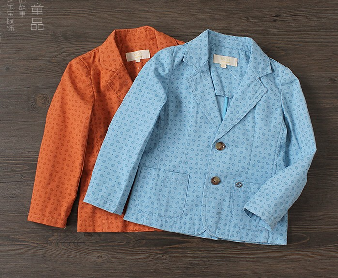 2016 New Boys  leisure small suit spring childrens suit Printed cotton coat wholesale<br><br>Aliexpress