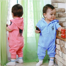 POLO Romper baby jumpsuit summer models children's clothing cotton hooded leotard climbing clothes baby boy baby boy clothing(China (Mainland))