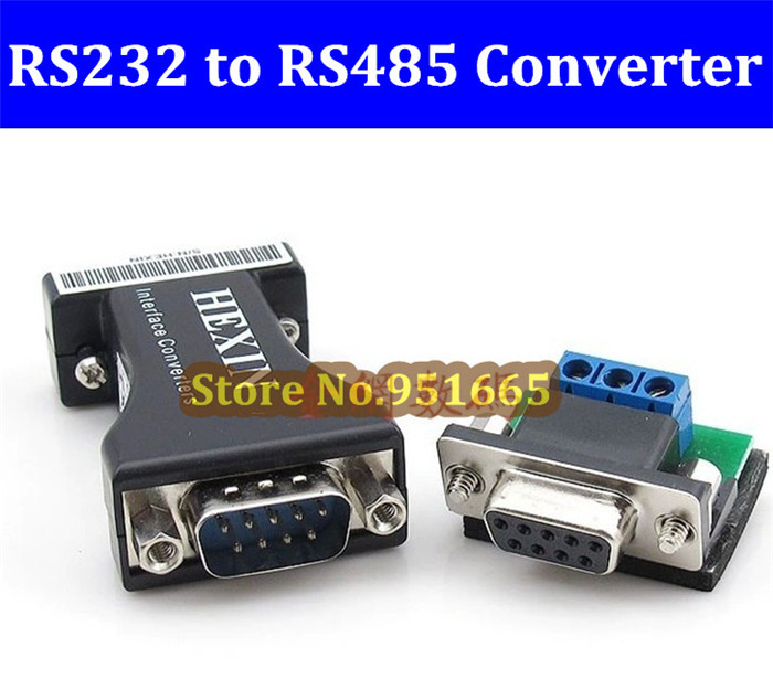 High Quality 2pcs/lot RS232 to RS485 Data Converter 232/485 RS485 to RS232 Communication Data Converter Adapter Free shipping(China (Mainland))