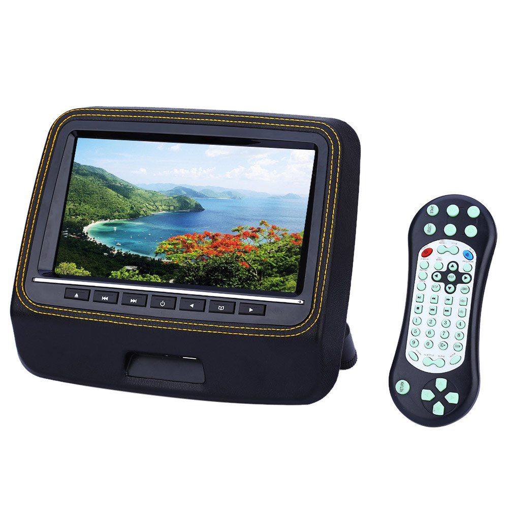 XD9906 9 Inch Universal Car Headrest DVD Player 800 x 480 LCD Screen Backseat Monitor Full Functional Remote Control Super-slim(China (Mainland))