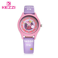 Babys' Friend Pink Pig Kids Watch Populal UK Pepaa A nd George Cartoon Watches 30M Waterpoof Brand KEZZI Leather Children Watch