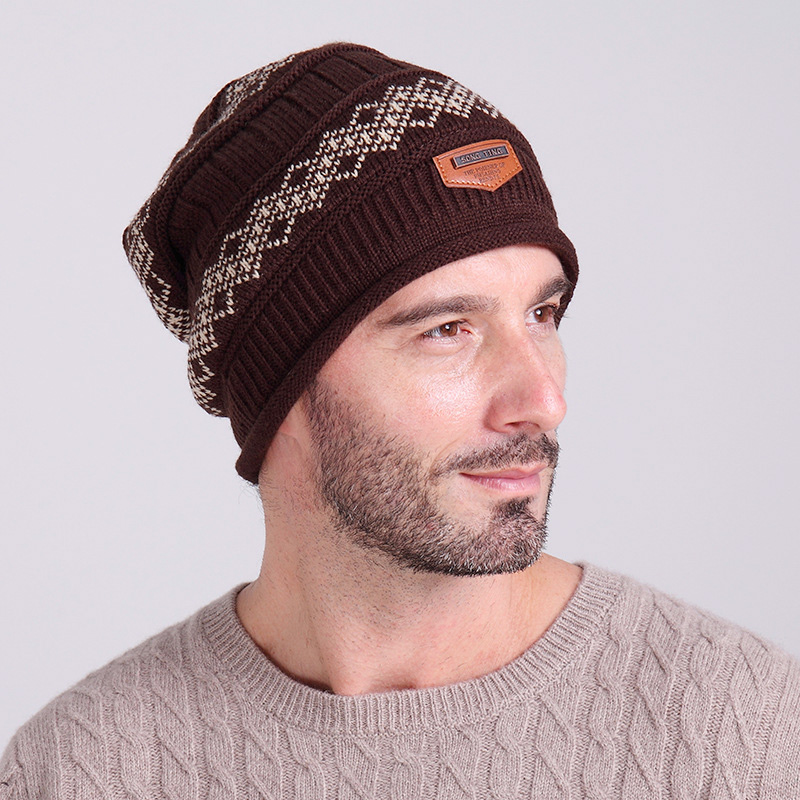 Winter Beanies Hats for Men Ski Skullies Bonnet Hat with Velvet Inside Z-2018()