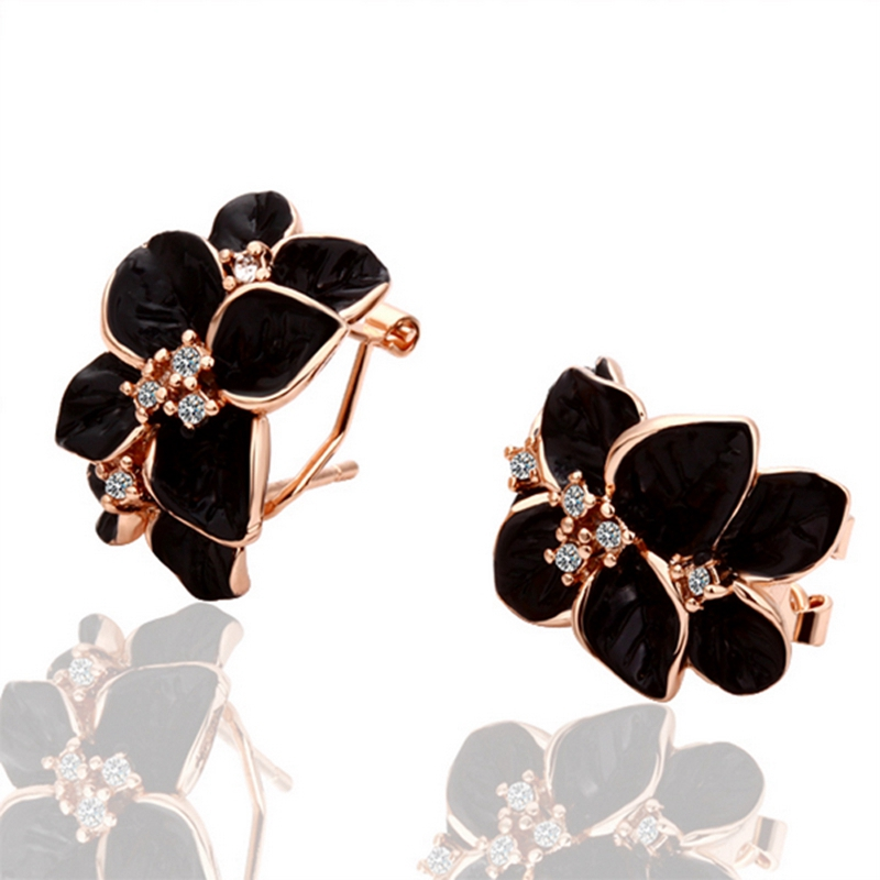 Earrings 18K Gold Beautiful Earrings 18K Gold Popular Jewelry Wholesale Prices lt dw LGPE018(China (Mainland))