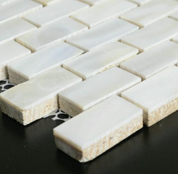 Subway brick tiles mother of pearl tile new arrvial  kitchen backsplash bathroom wall nature white mosaic shell bathtub tiles<br><br>Aliexpress