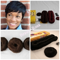 Wholesale 27 pieces short hair weave short bump top quality hair extension with 6 kinds color with free closure and cap