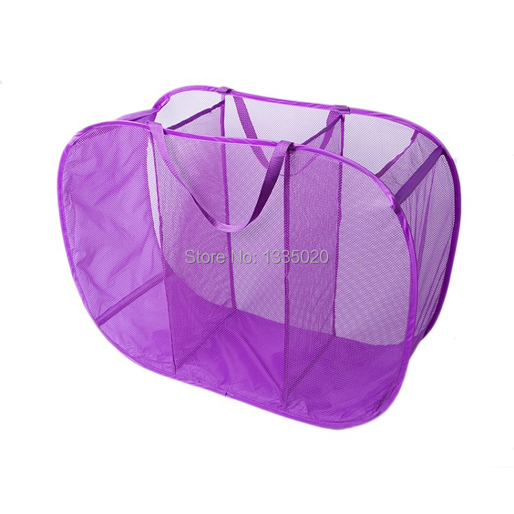 Laundry Basket For Toys Clothes Storage Hamper Pop Up Laundry Sorter Mesh Foldable Dirty Clothes