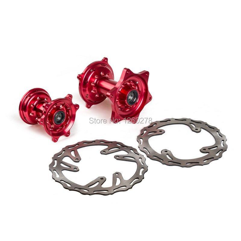 Motorcycle Billet Front &amp; Rear Wheel Hubs w/ Brake Rotors For Honda CRF250R/450R CRF250X/450X 2002-2013<br><br>Aliexpress