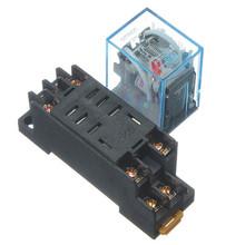 A estrenar 1 unid 220 V 10A muelle Power Relay DPDT LY2NJ HH62P HHC68A-2Z con Socket Base